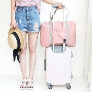 Handbags - NEW Fold Travel Luggage Bag (Pink/Blue/Red/Navy)